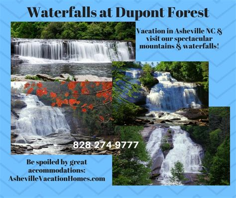 Waterfalls at Dupont State Forest in Blue Ridge Mountains