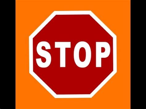 Photoshop Tutorial Create Stop Sign Board 2 | MakeMeLaughs