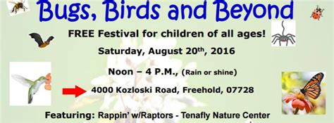 'Birds, Bugs and Beyond' Festival in Monmouth County Aug