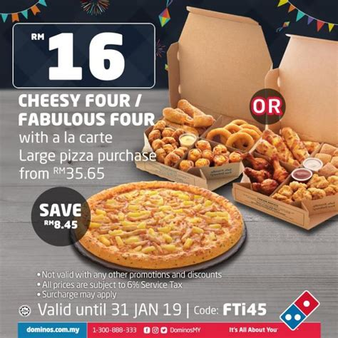 Domino's Pizza FREE Fiesta Coupon (until 31 January 2019)