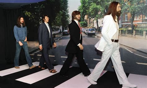 The Beatles Abbey Road waxworks unveiled at Madame