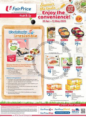 NTUC FairPrice CP Promotion 30 April - 13 May 2020