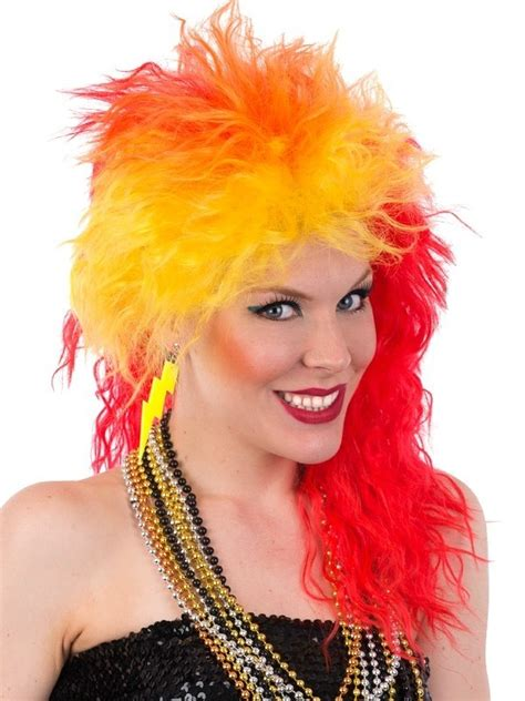 1980s Cyndi Lauper True Colors Costume Wig Red Yellow
