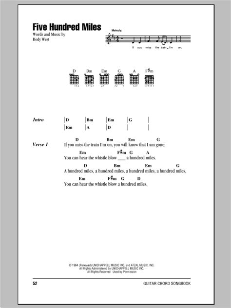 Five Hundred Miles | Sheet Music Direct