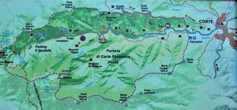 Mountain map of Restonica valley - Corsica
