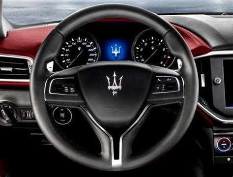 The steering wheel of the new Maserati Ghibli | Torque News