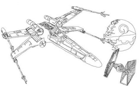 Star Wars Coloring Pages X Wing | Ryan's Room | Pinterest
