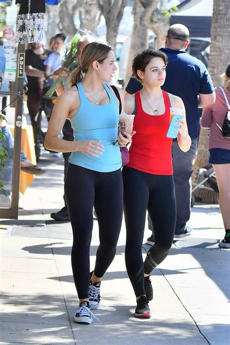 hunter king and joey king head out for coffee after a