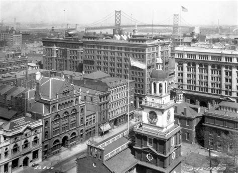 Independence Hall and surroundings, 1929 | Encyclopedia of