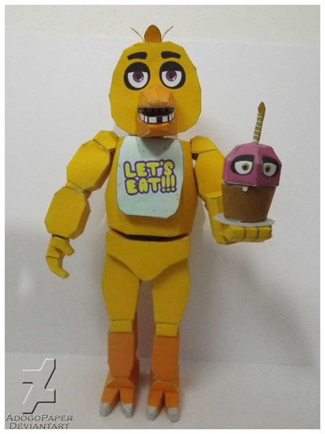 five nights at freddy's chica Papercraft by Adogopaper on