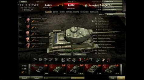 World of Tanks : T-34-85 Közepes Tank - A Tigrisszelidítő