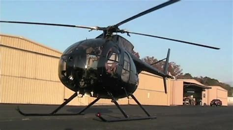 Startup of a Turbine MD500 Helicopter - Outside view - YouTube