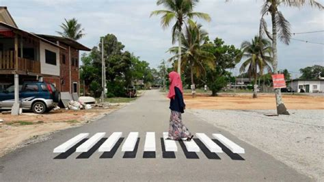 This Cool 3D Zebra Crossing In Terengganu Is Perfect For