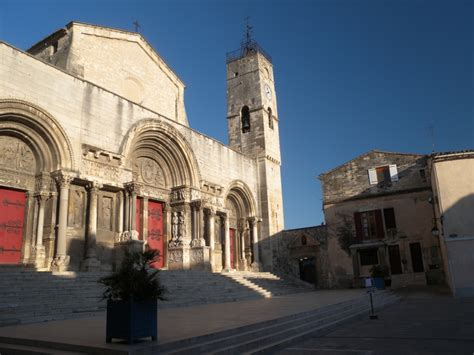 Church in the centre of Saint Gilles town - Camargue France